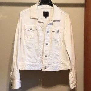 White Denim Jacket by The Limited Size L